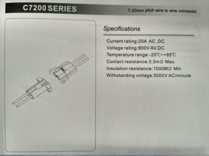 To Wire Connectors 7.20mm Pitch Housing Crimp Connector for AMP ...