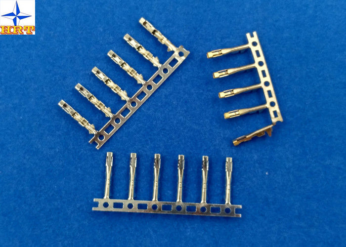 Tin-Plated / Gold-Flash Wire Connector Brass Crimp Terminals with