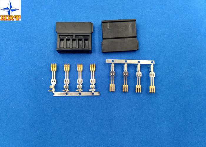brass material Gold - Plated Signal Wire To PCB crimp Connectors terminals with 1.27mm Ptich