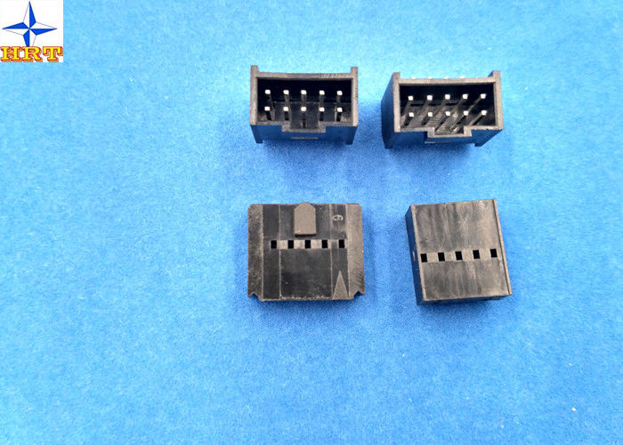 2.54mm Pitch Shrouded Header Male Connector For Wire To Board Connector / Housing