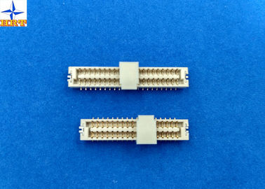 Chiny Light Yellow LCP 1.25mm Pitch Connector , Wire To Board Terminal Connector One Row fabryka