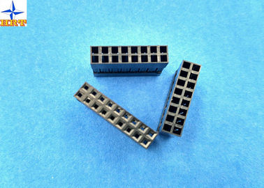 Chiny LVDS Connector 2.54mm Pitch Dual Rows Power Connectors PBT Material Without Nose fabryka
